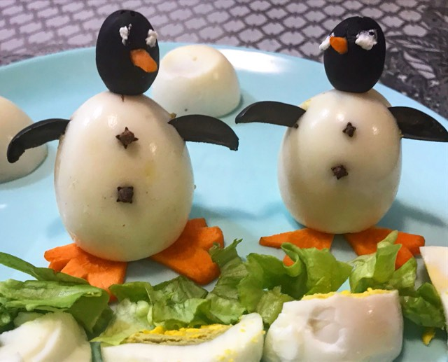 Uskrs – pingvini od jaja Easter decoration, Osterdekoration
