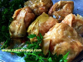 Posna sarma, Vegan cabbage rolls