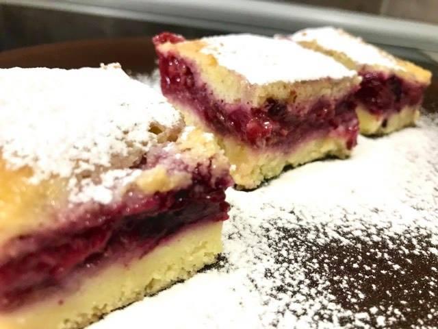 Lenja pita sa jagodama, Lazy pie with strawberries, Lazy Pie mit Erdbeeren
