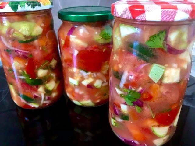 Letnja salata za zimu, Summer salad for winter,Sommersalat für den Winter