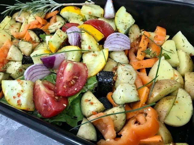 Povrće iz rerne, Vegan recipe